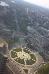 Logan Circle and Parkway from above