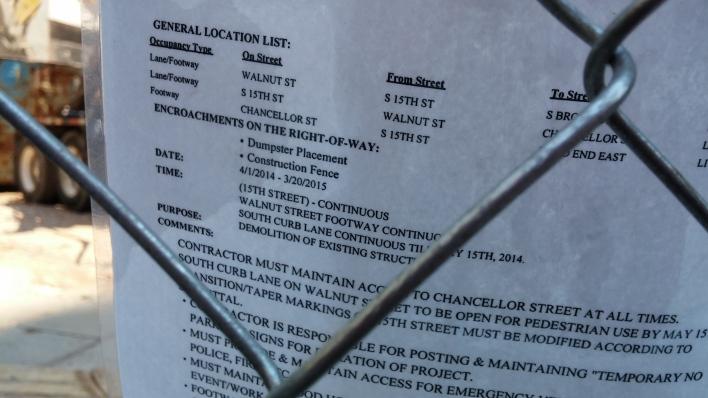 1430 Walnut - Revised permit - walkway in curb lane opens on Walnut