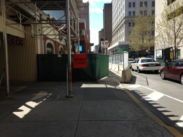 301 to 311 S Broad. Walkway on Spruce St. Only open when no demolition happening.