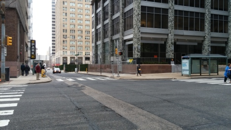 Comcast 2.19th and Market. No advance warning sign but Chain Link Fence instead.