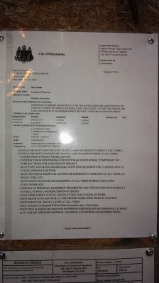 1116- 28 Chestnut street - October 7, 2014 permit to close Chestnut and Sansom SW until February, 28, 2015
