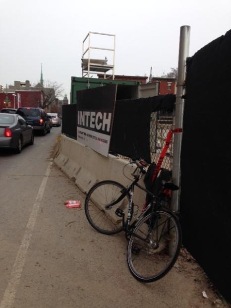 Rodin Square 22nd St. Bike Lane Closed
