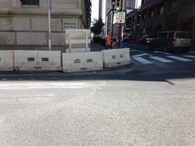 15th & Chestnut - blocked crosswalk.