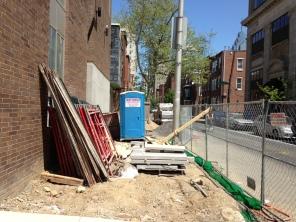 19th & Lombard. 19th St. Sidewalk closed.