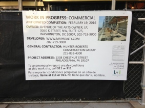 Broad & Chestnut. SEC - Project Info Panel.